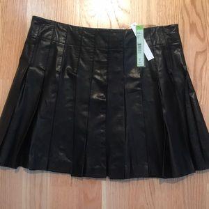 Alice + Olivia leather mini skirt NWT
